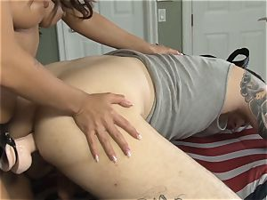 spin flopping ravage with insatiable dark-haired and her man