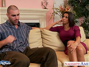 dark-haired Rachel Starr nail her fortunate neighbor