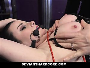 DeviantHardcore submissive nubile Gets ball-gagged by meatpipe