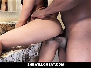 SheWillCheat - cheating wifey boinks big black cock in bathroom