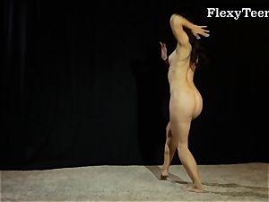 sizzling bootie gymnast dancing