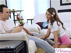 PrincessCum- StepSis polishes Bros cock playing Xbox S2E7