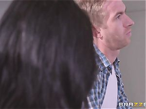 Danny D stuffing his man meat into Gina Valentina and Lily Jordan