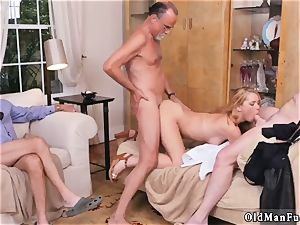 dad on blond and elderly russian girl Frannkie And The group Tag crew A Door To Door