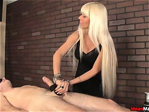 platinum-blonde masseuse Agrees To spear rubdown On Her Terms