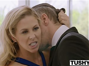 TUSHY Blair Williams Has A super-hot rectal Lesson threesome With Her boss