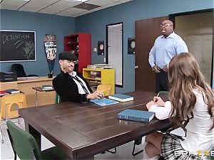 Dillion Carter bangs her classmate in detention