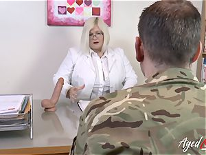 AgedLovE Lacey Starr ravaging rock-hard with Soldier