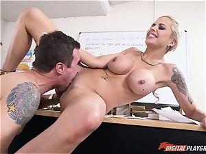 super-fucking-hot caboose blondie Nina Elle jammed in her minge