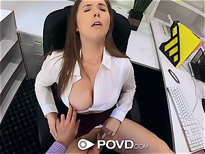 mind-blowing secretary sucks and bangs for a promotion