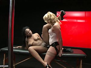 raunchy Kathia Nobili thrusts her wire on fuck-stick deep down her playmate facehole