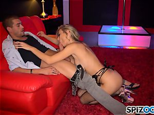 luxurious stripper Natalia Starr gives fellatio and tucked in her vag pie by her beloved customer