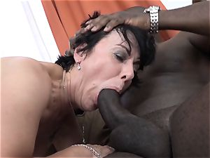 granny three ways with 2 black fellows tear up penises in facehole