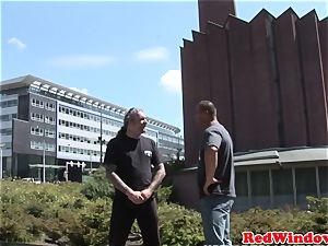 Real dutch escort cockblowing in Amsterdam