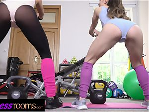 fitness rooms stiffy greedy Italian and Czech gals
