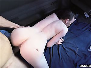 brown-haired nymph picked up and penetrated
