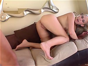 Natalie Norton gets her gullet wedged with firm man-meat