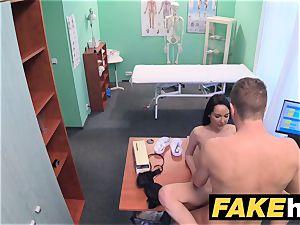 fake health center Doctors man sausage opens up super hot Portuguese honey