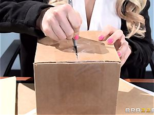 super-sexy office stunner Alix Lynx takes a 2nd helping