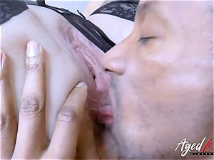 AgedLovE Lacey Starr huge-chested ash-blonde Mature hard-core