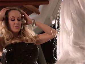 Brandi enjoy plumbs a man in stylish dress