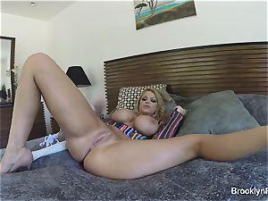 blonde honey Brooklyn records herself milking