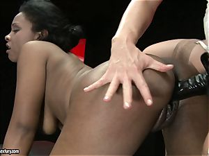 warm Kathia Nobili likes porking her colleagues cooch rock-hard from behind