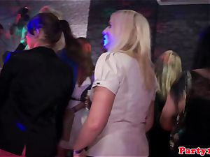 party first-timer fingered on the dancefloor