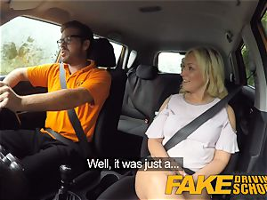 torrid blond takes sausage in the back seat