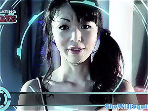 chinese porno starlet Marica Hase gets a bath facial
