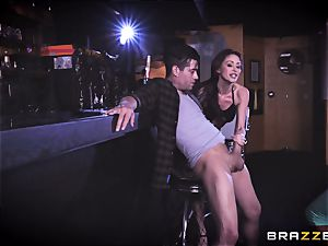 Monique Alexander and August Ames get their beavers drowned with Xanders wood