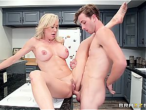 Brandi's plump cougar arse is all a boy needs