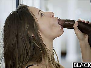 Cassidy choking on meaty black penis
