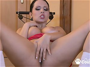 giant boobies Angela Dabola fingering her cootchie