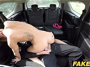 faux Cop Cop jizzes two times for beautiful ginger-haired