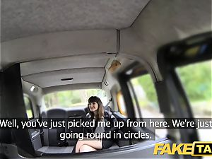 fake taxi brown-haired does buttfuck down to the pouch