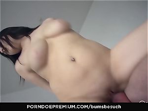 asses BESUCH - Naturally busty stunner gets jizz on udders