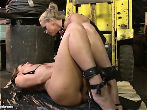 Andy chocolate-colored and Kathia Nobili donk dildoing firm