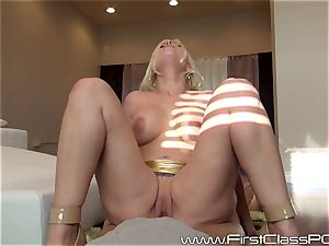 Britney Amber throating on yam-sized shaft point of view style