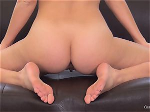 Alluring Megan Rain succeeds in giving a off the hook audition