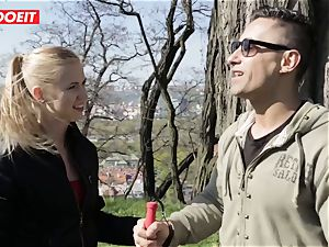 LETSDOEIT -weirdo fellow Tricks scorching ash-blonde Tourist Into fuckfest