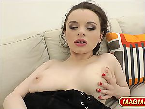 Russian with meaty honkers gets butt-banged