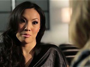 Asa Akira demonstrates Samantha Saint a fresh pasttime