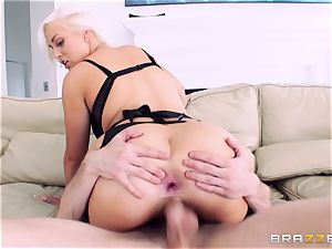 Jenna Ivory first assfuck in her taut booty