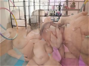 Danny glides his man rod into the butt of yoga babe Lena Paul