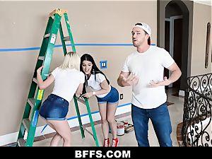 BFFS - Besties pummel Handyman Instead of Paying