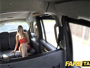 fake taxi lady in short sundress gets a taxi internal ejaculation