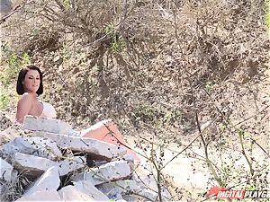 Peta Jensen - fledgling pornography with unfamiliar folks outdoor