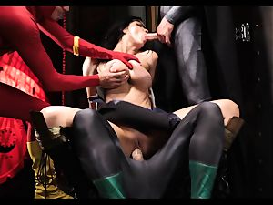 Justice League gonzo part five - Hero hookup with Romi Rain