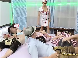 Oktoberfest after party with red-hot nurses